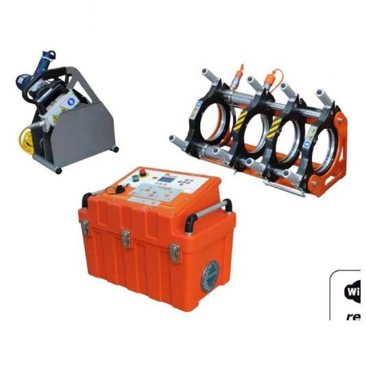 Ritmo EASYLIFE 200 V0 félautomata jegyzőkönyvezős tompahegesztőgép 63-180 szűkítő befogósorozattal
